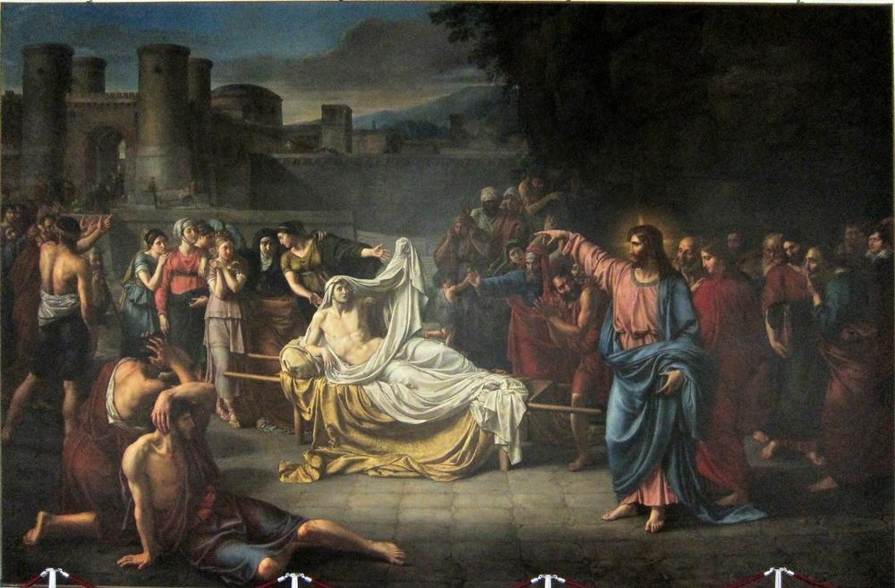 Jean Baptisite Wicar, La résurrection du fils de la veuve de Naïm