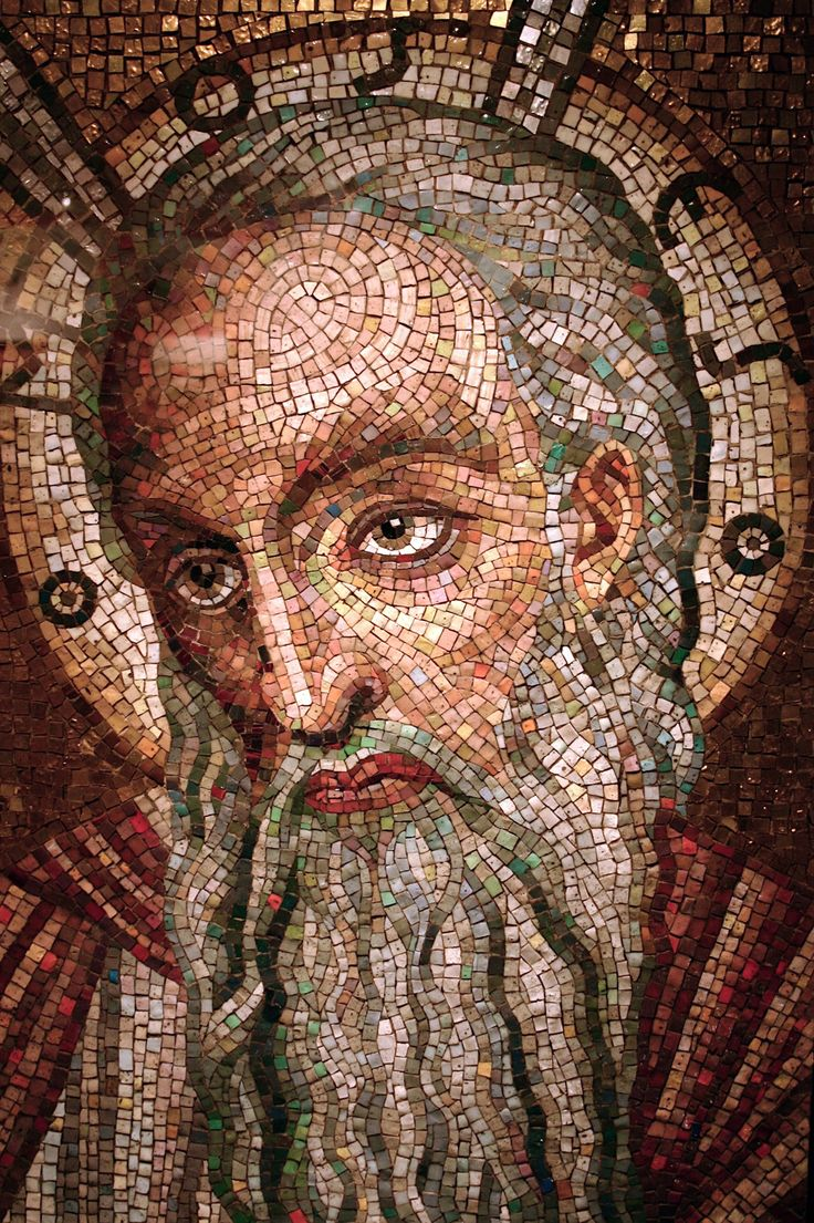 """Moses,"" mosaic, St. Louis Cathedral"