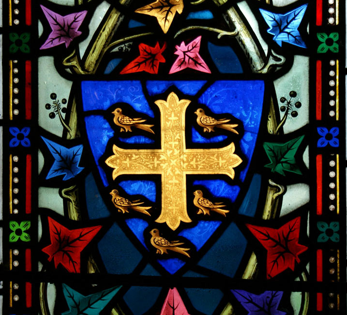 St. Edmund's Shield , stained glass, St. Edmund's Dolton