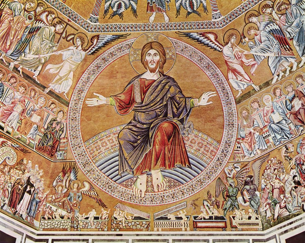 Christ in Majesty, Florentine mosaic, 1300