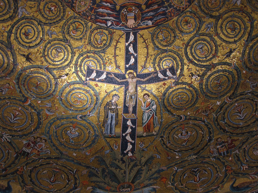 I AM the True Vine.  Apse Mosaic, Basilica San Clemente, Rome
