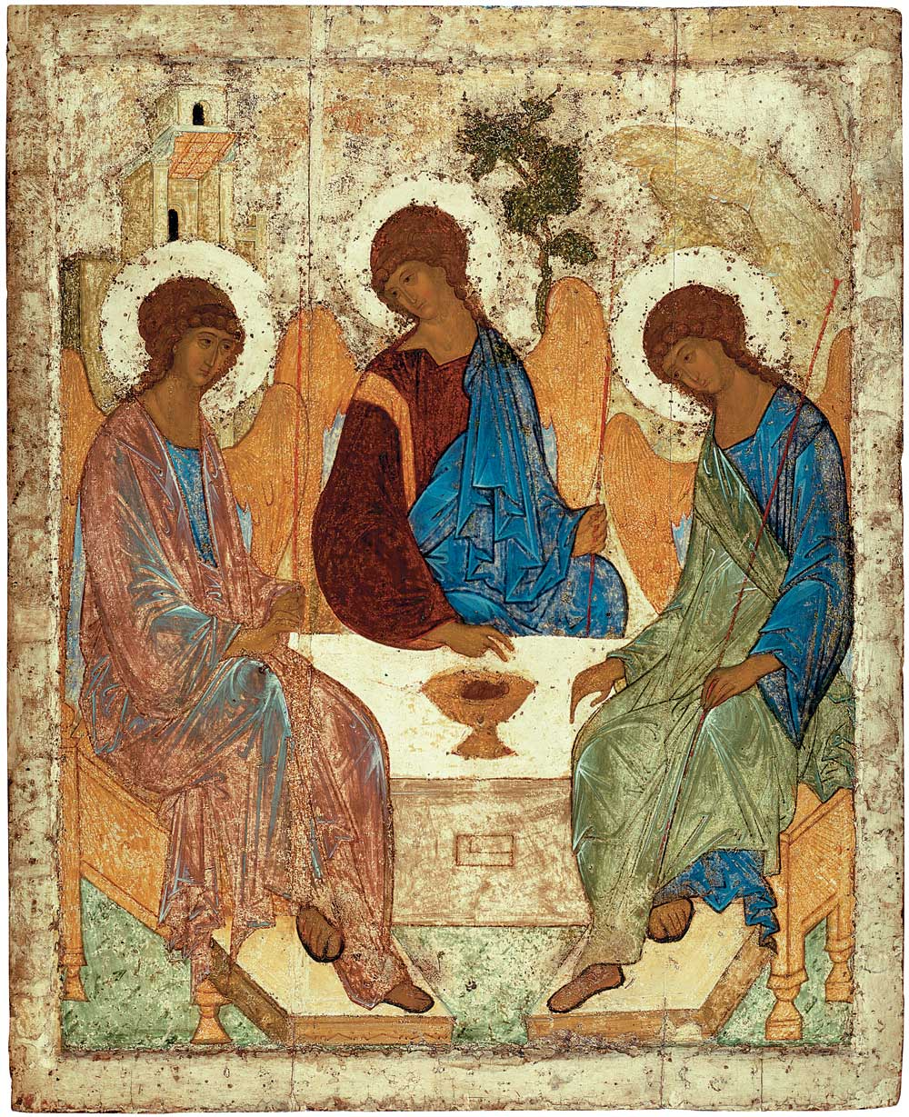 The Hospitality of Abraham  is an icon created by Russian painter Andrei Rublev in the 15th century.