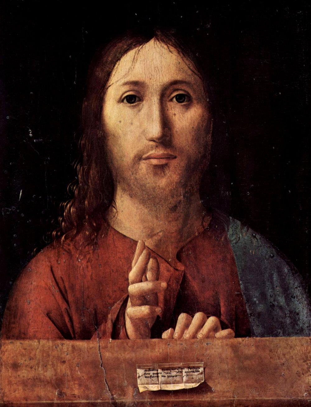 Antonello de Messina (1430),  Salvator Mundi (Savior of the World)