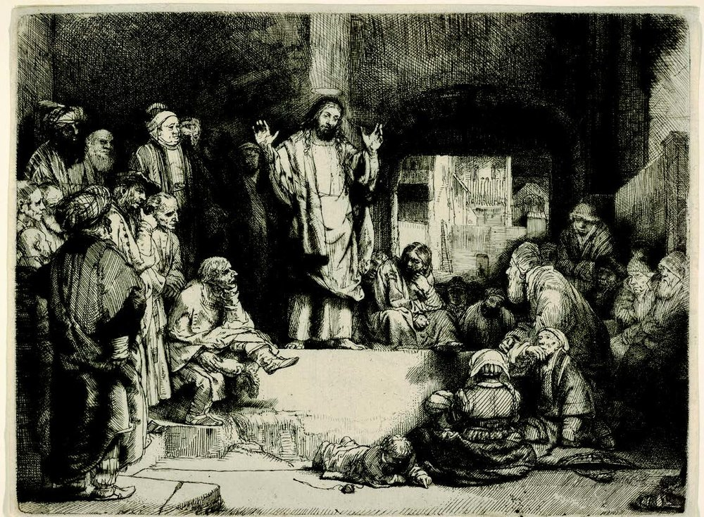Rembrandt,  Christ Preaching  (1657)