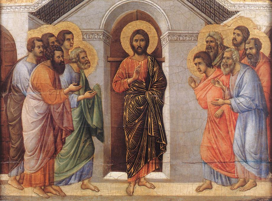Duccio di Buoninse,  Easter  (1308)