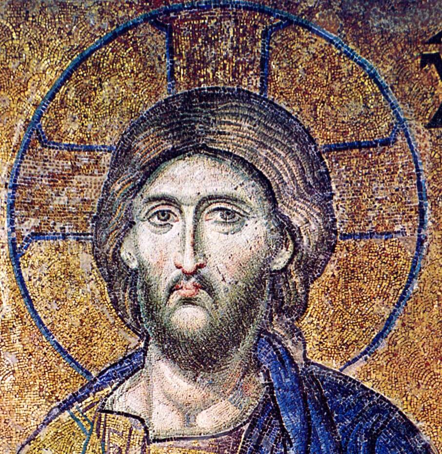 Christ, Pantokrator (Ruler of the Universe), mosaic, Hagia Sophia, Instanbul.