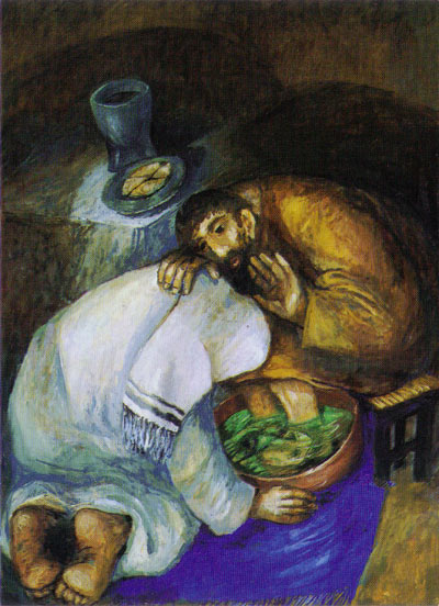 Jesus Washing Feet, Sieger Koder.
