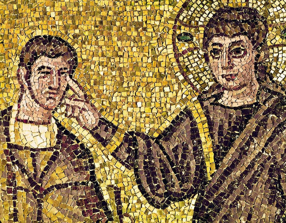 Christ Healing the Blind Man, Mosaic, Ravenna, Italy.