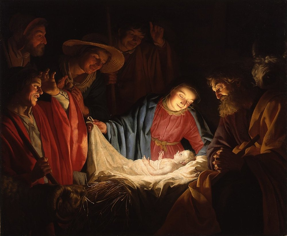 Adoration of the Shepherds,  by Gerard van Honthorst.