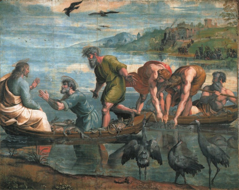 The Miraculous Draught of Fishes , by Raphael, 1515.