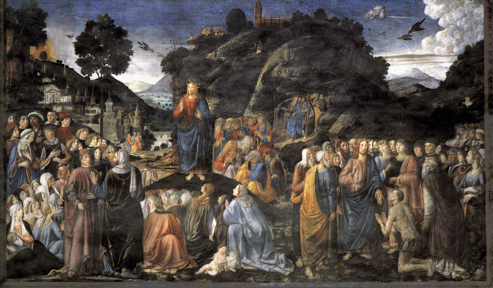 Sermon on the Mount  by Cosimo Rosselli, (1481-82).