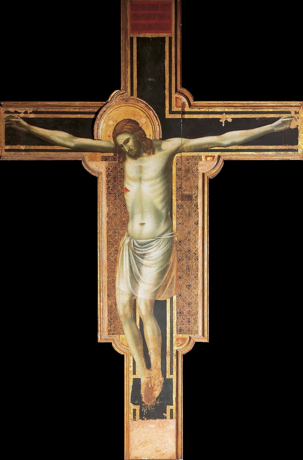 The Crucifixion , Giotto di Bondone, 1315, Rimini, Italy.