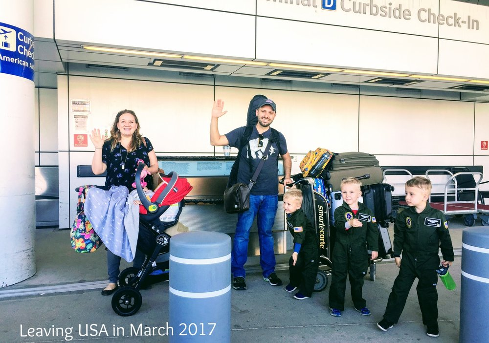 Leaving the USA in March 2017