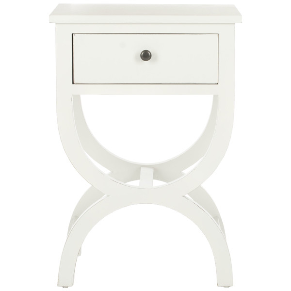 Wayfair: Safavieh, Maxine 1-Drawer End Table, Off-White