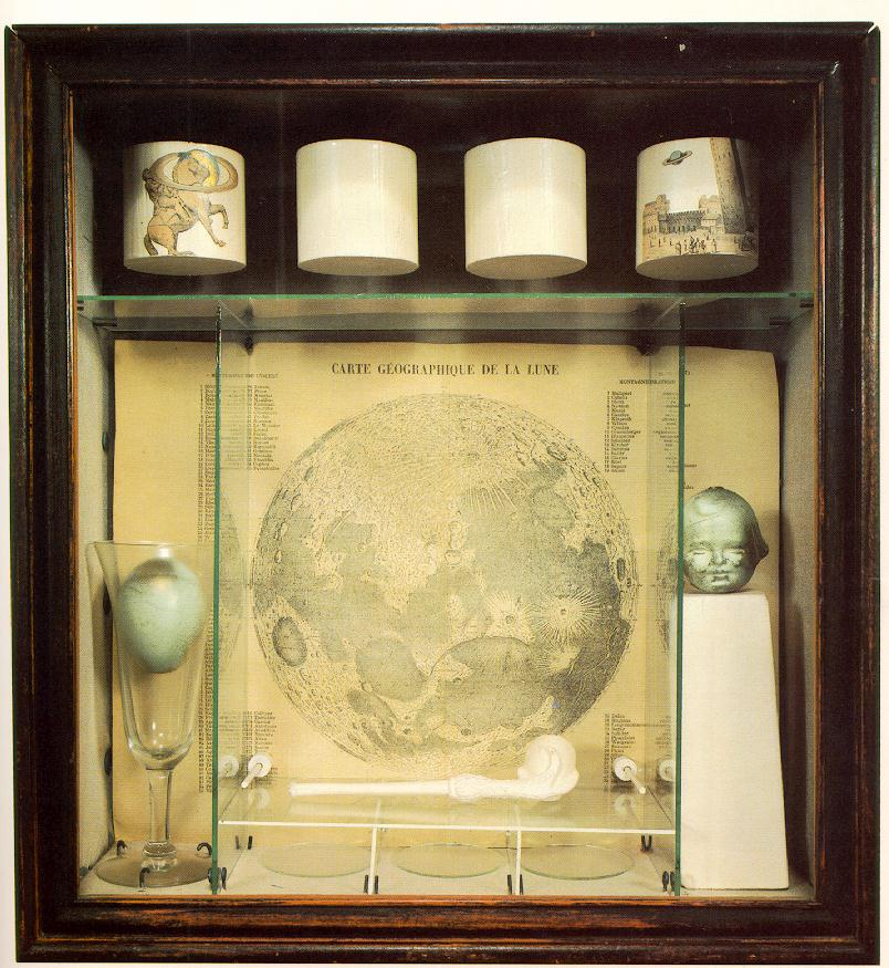 Some of  Joseph Cornell's shadow-box art.