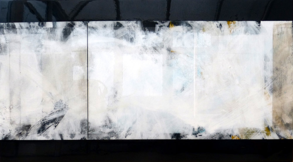 SEA WALL 102x54cm | mixed media on board with high gloss epoxy resin |  £1600.00 |