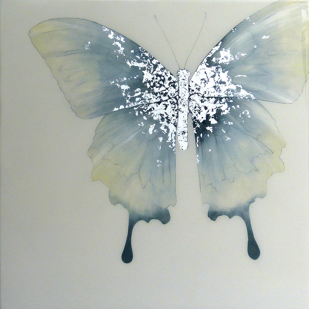 REGENCY | 90x90cm | oil and metal leaf on board with high gloss epoxy resin | £1750.00 | SOLD