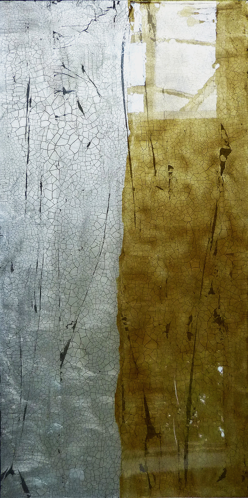 TIBOR | 122x61cm gilded silver leaf and mixed media on board with high gloss epoxy resin | £1500.00 | SOLD
