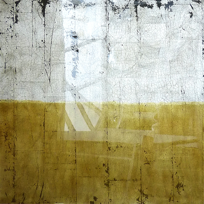 RAOUL | 91x91cm gilded silver leaf and mixed media on board with high gloss epoxy resin | £1500.00