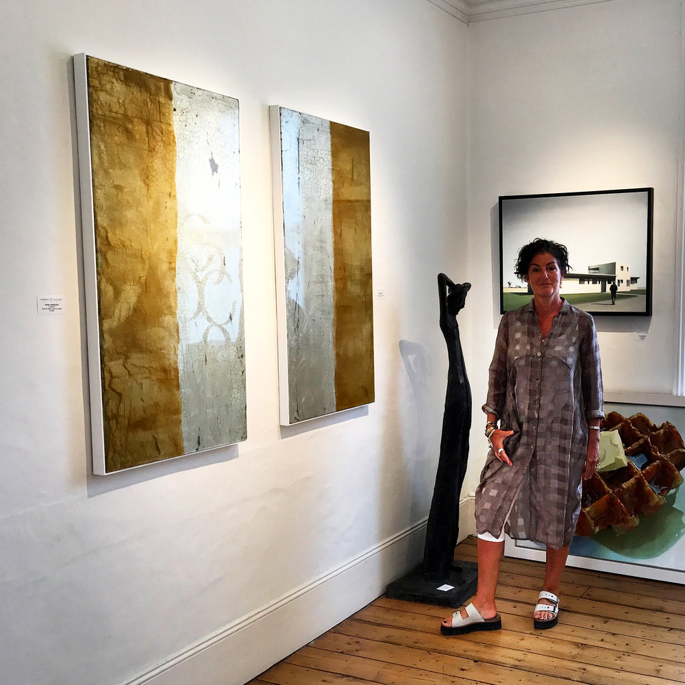 BABAK and MOYO Gilded, silver leaf panels shown by Fairfax Gallery, Tunbridge Wells | SOLD