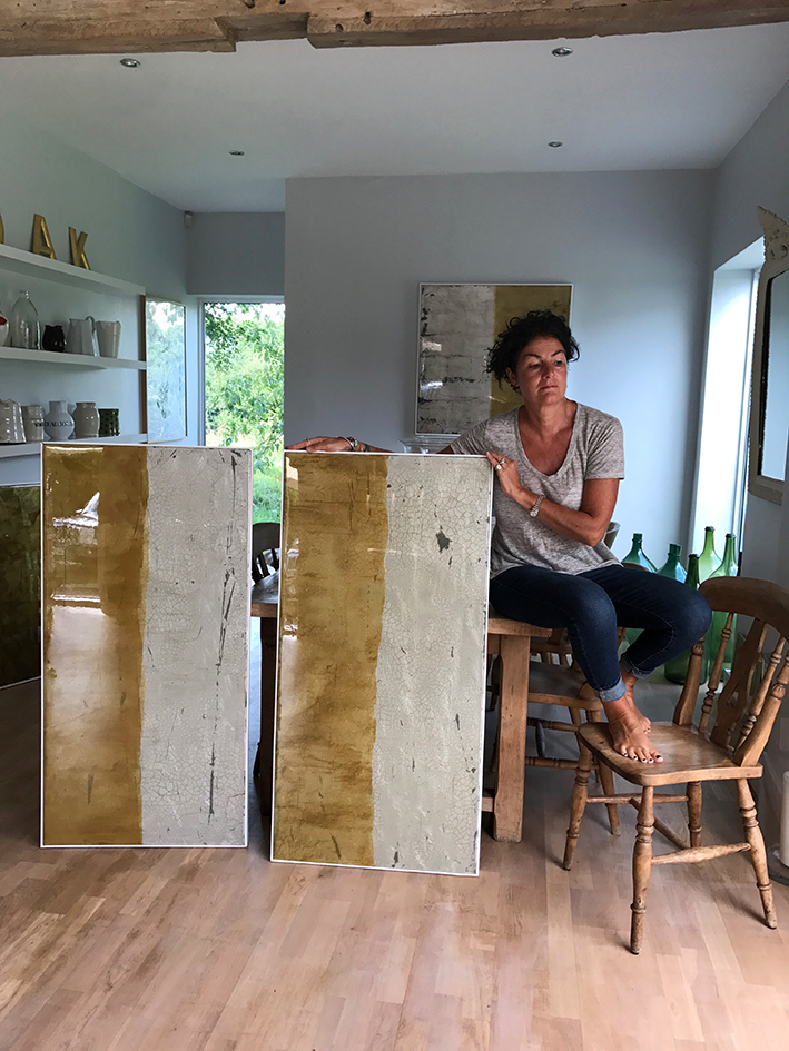 GILDED PANELS | SOLD