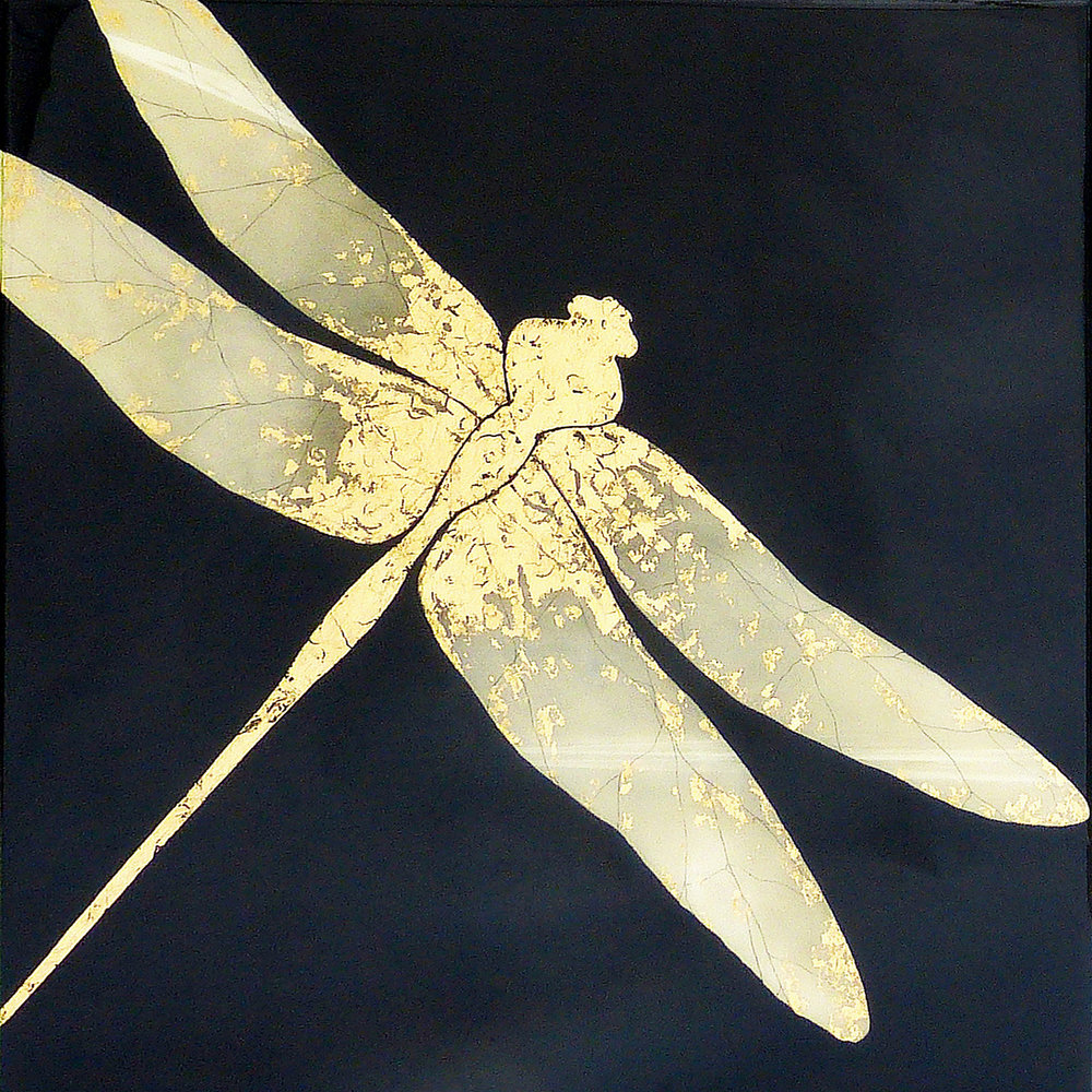 CHIFFON | 90x90cm | oil and metal leaf on board with high gloss epoxy resin | £2250.00 |