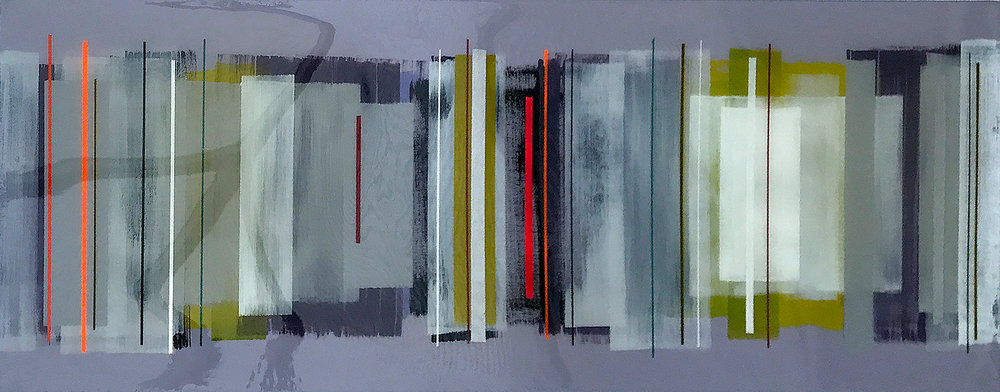 JUDE 102x40cm | mixed media on canvas with high gloss epoxy resin |  £1400.00
