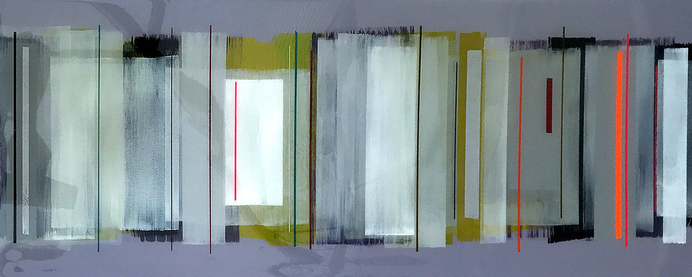 QUAD 102x40cm | mixed media on canvas with high gloss epoxy resin |  £1400.00