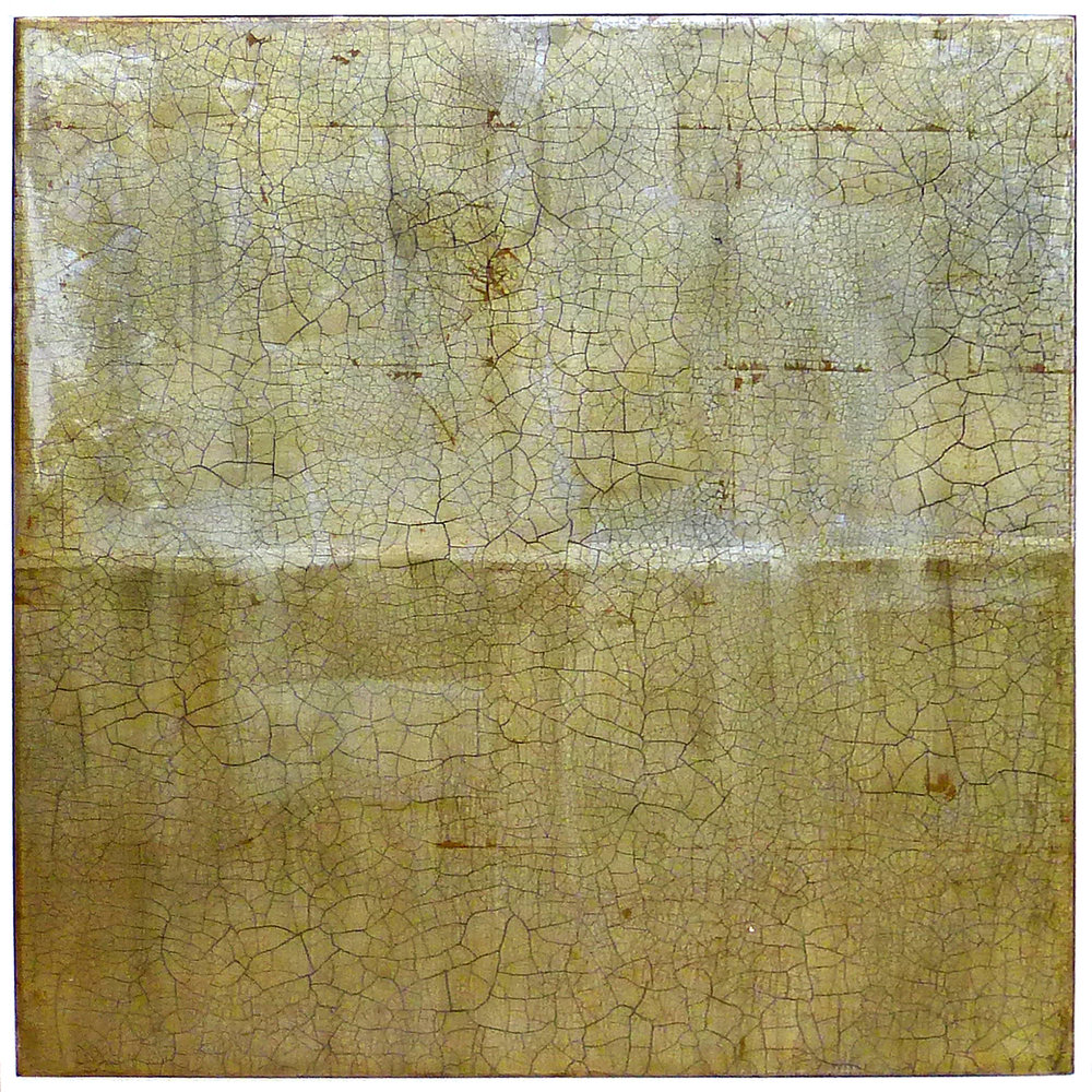 ANISSA 1 | 62x62cm gilded silver leaf and mixed media on board with high gloss epoxy resin | £1,550.00