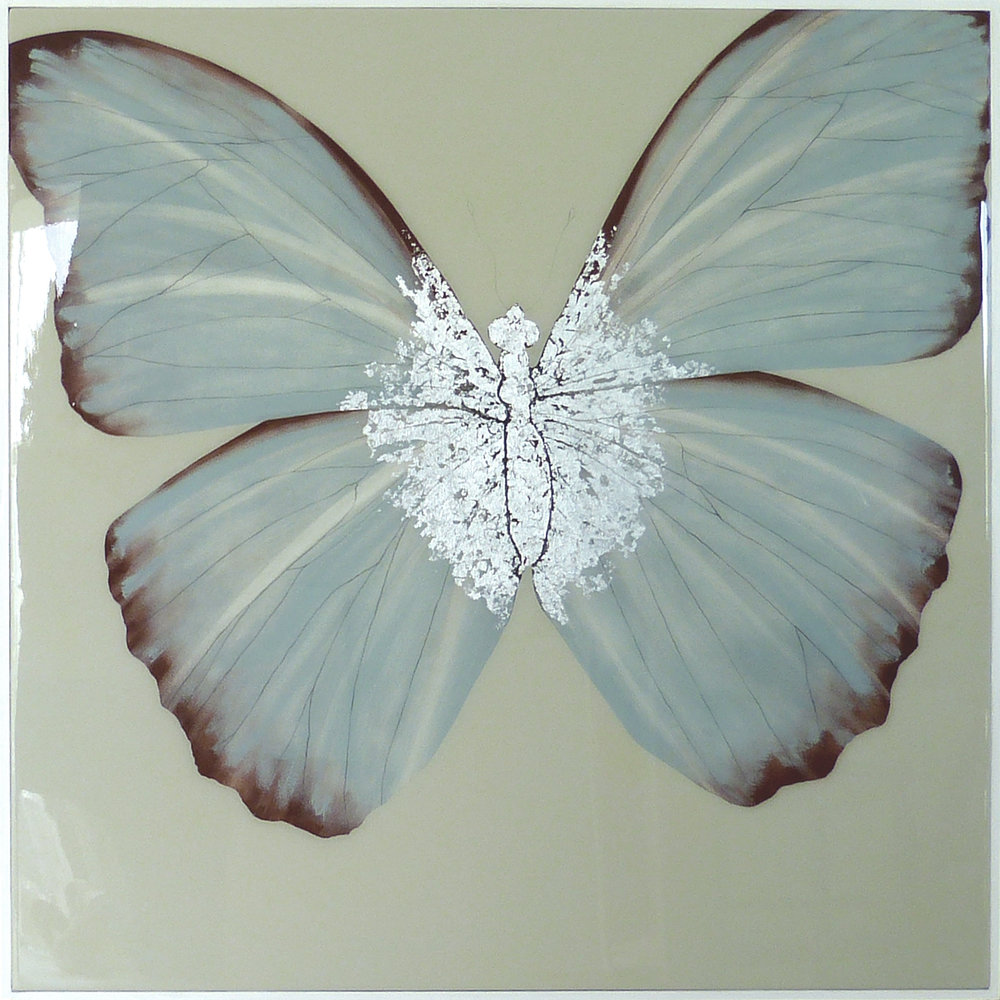 CONSTANTIA | 90x90cm | oil and silver leaf on board with high gloss epoxy resin finish |  £2,300.00 | SOLD