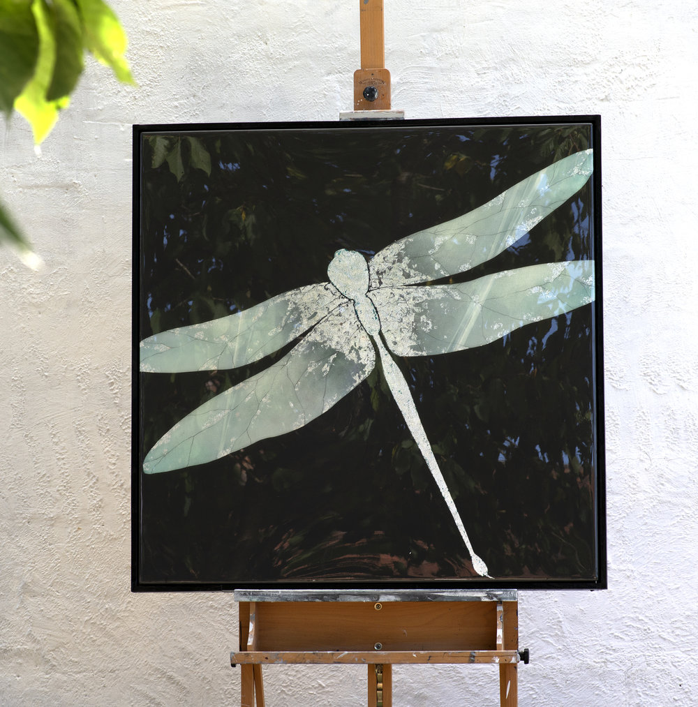 SAPHI | 90x90cm | oil and metal leaf on board with high gloss epoxy resin | £2,200.00 |