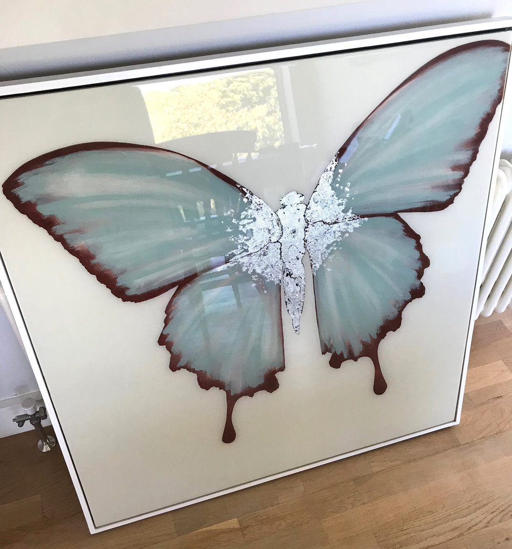 HORTENSE | 90x90cm | oil and metal leaf on board with high gloss epoxy resin | £2,300.00 |