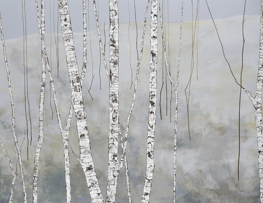 THE WALK HOME 102x76cm | mixed media on canvas with silver leaf | £2,200.00 |
