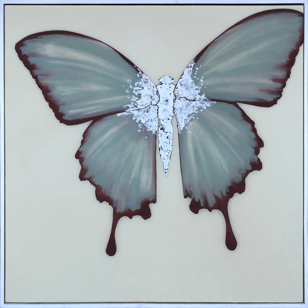 HORTENSE | 90x90cm | oil and metal leaf on board with high gloss epoxy resin | £2,600.00 |