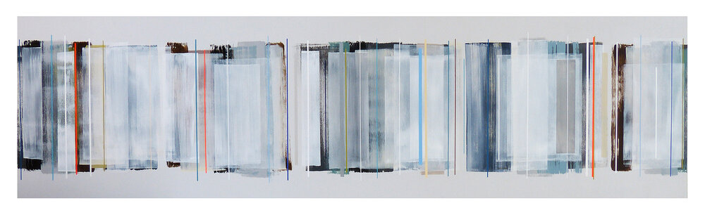 NYC no.1 | 225x61cm | mixed media on board with high gloss epoxy resin |  £3,600.00 | SOLD