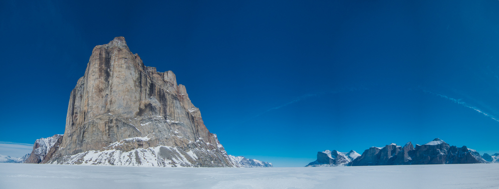 The Great Cross Pillar on The Sam Ford Fjord, Baffin Island, Canada
