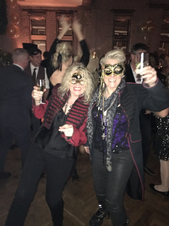 Catherine Feeney and Nikki Lamborn wishing Happy New Year
