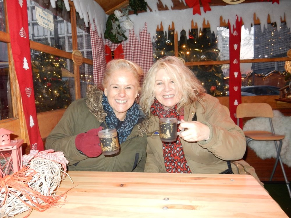 (Sending Christmas cheer from Berlin ️ spreading the word over a cup of Gluehwein ️)