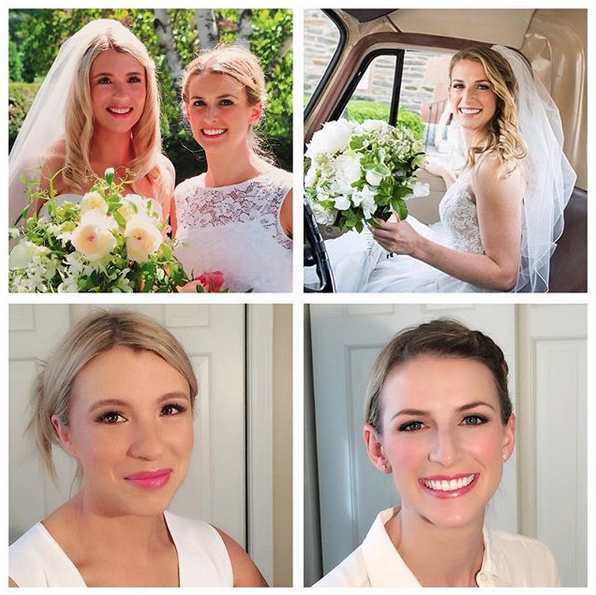 Makeup for both of these stunning brides by  Flawless Cosmetic Design.    Photos on the left by  Ember Photography  and on the right by  Grazier Photography.