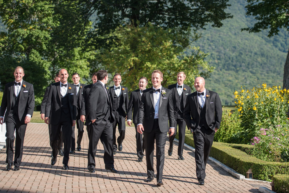 A black tie optional wedding at  Hildene .  Photo by  Daria Bishop Photography .