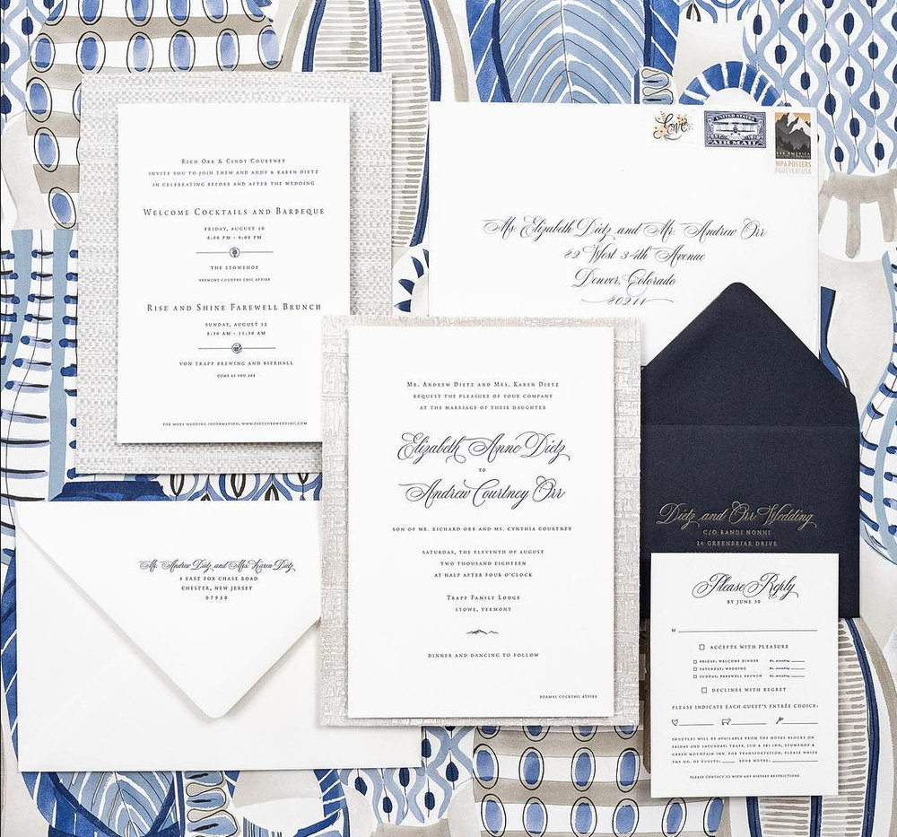 Invitation design by  Christa Alexandra Designs