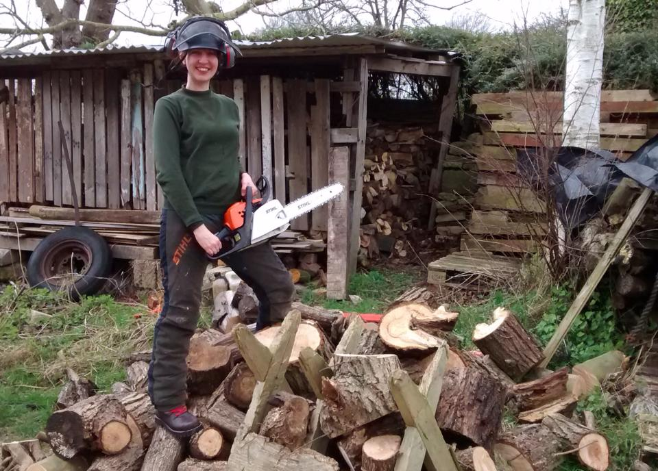 'Chainsaw Sunday' from Anna Casserley's  Facebook page .