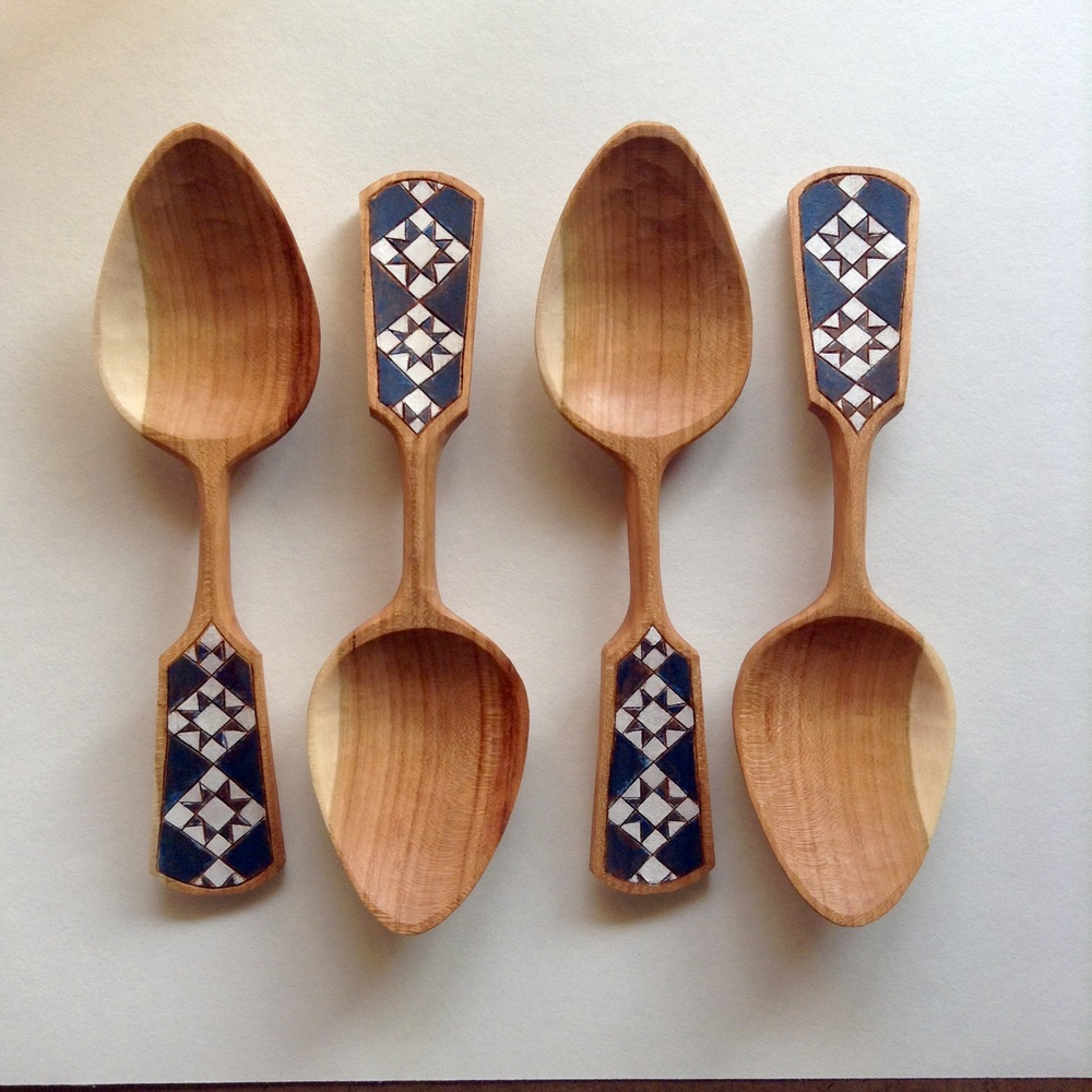 Ohio Star Spoons by Amy Umbel.
