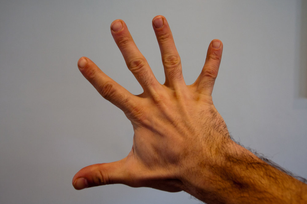 Open hand stretch