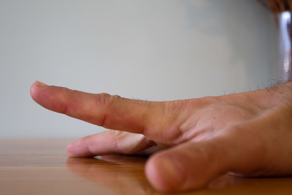 Individual finger stretch