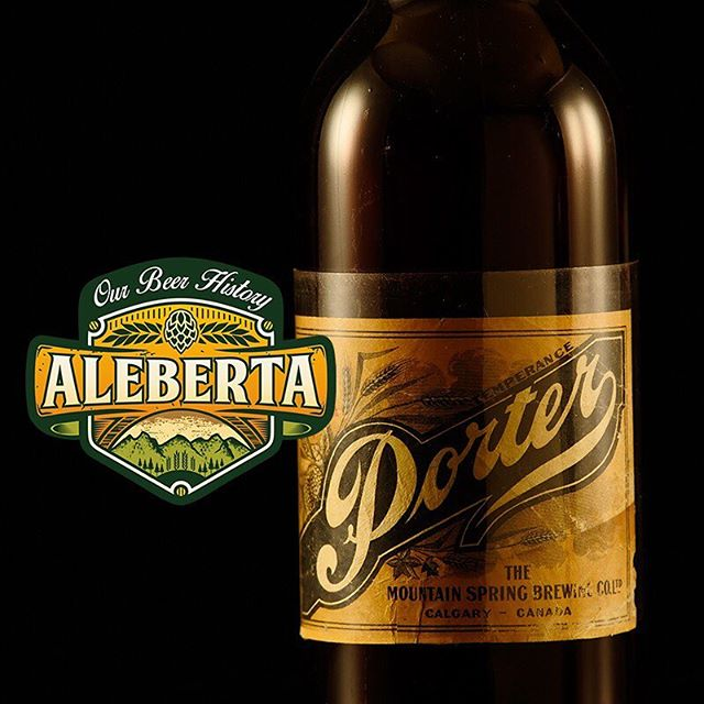 A #Porter Produced by the #MountainSpring #Brewing Co. circa #1920s #WatchLocal #DrinkLocal visit website in profile for screenings in #YYC #YVR #YEG