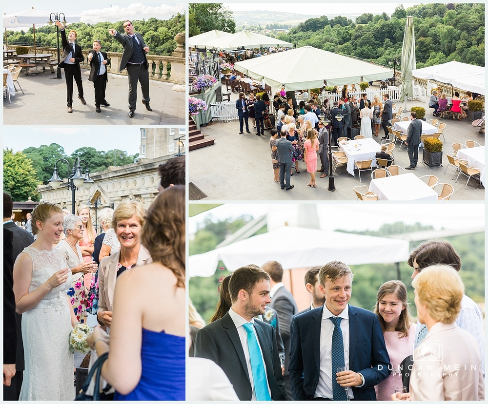 Weddings at Avon Gorge Hotel - Champagne Reception on the Terrace