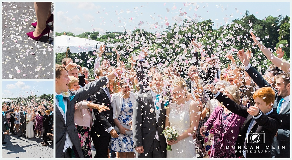 Weddings at Avon Gorge Hotel - Confetti Throwing