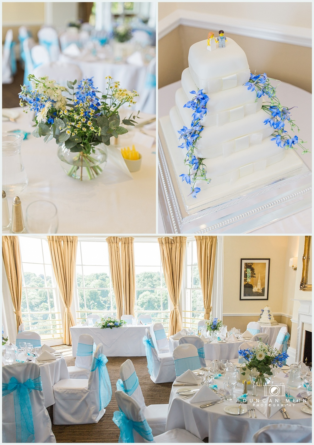 Weddings at Avon Gorge Hotel - Wedding Cake and Table Centre Pieces