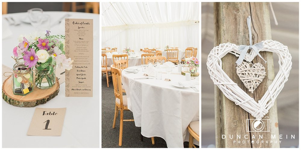 Rustic Barn Wedding in Somerset - Table Centrepiece